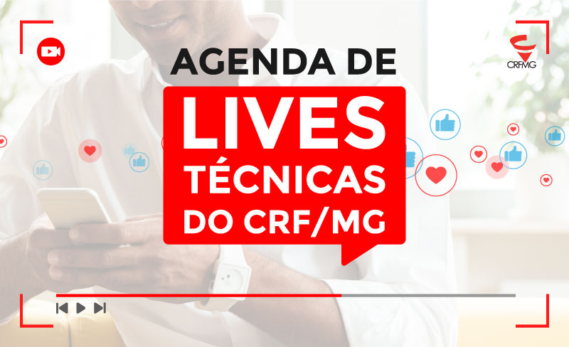 Agenda de lives técnicas do CRF/MG